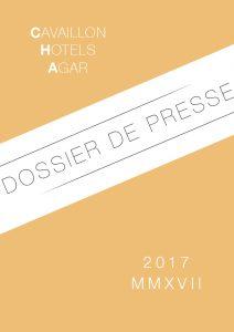 dossier de presse Hôtel d'Agar